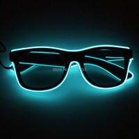 Barato Accesorios de fiesta brillantes de moda DC 3V inversor estable EL alambre gafas brillantes con lentes