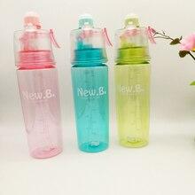 El más nuevo Diseño de Spray Pulverizador de Botella de Agua De Plástico Tazas Portátil Gimnasio Al Aire Libre en Bicicleta Botella de Los Deportes Taza Espacio Botella de Agua de Viaje