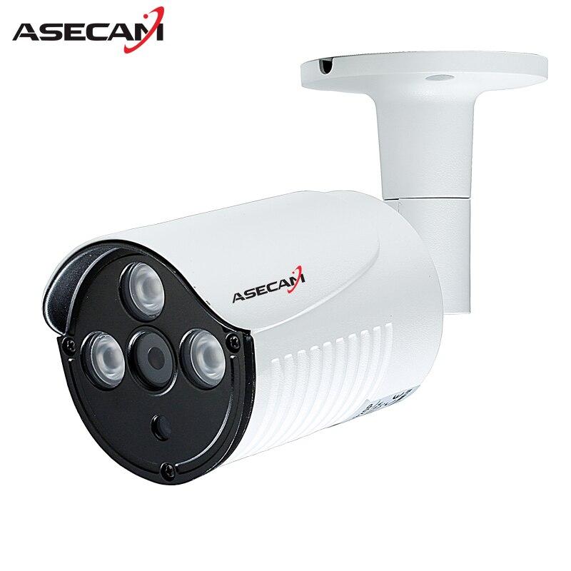 Asecam 1080 p h.265 cámara IP array infrarrojos 48 V Poe bala impermeable webcam seguridad red ONVIF videovigilancia P2P