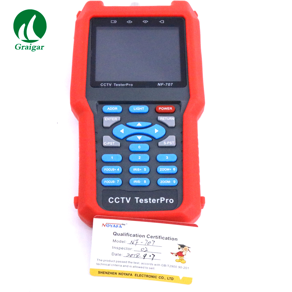 CCTV Cable Tester Analog CVBS Signal NF 707 PAL NTSC Multi system Color Bar Video Generator