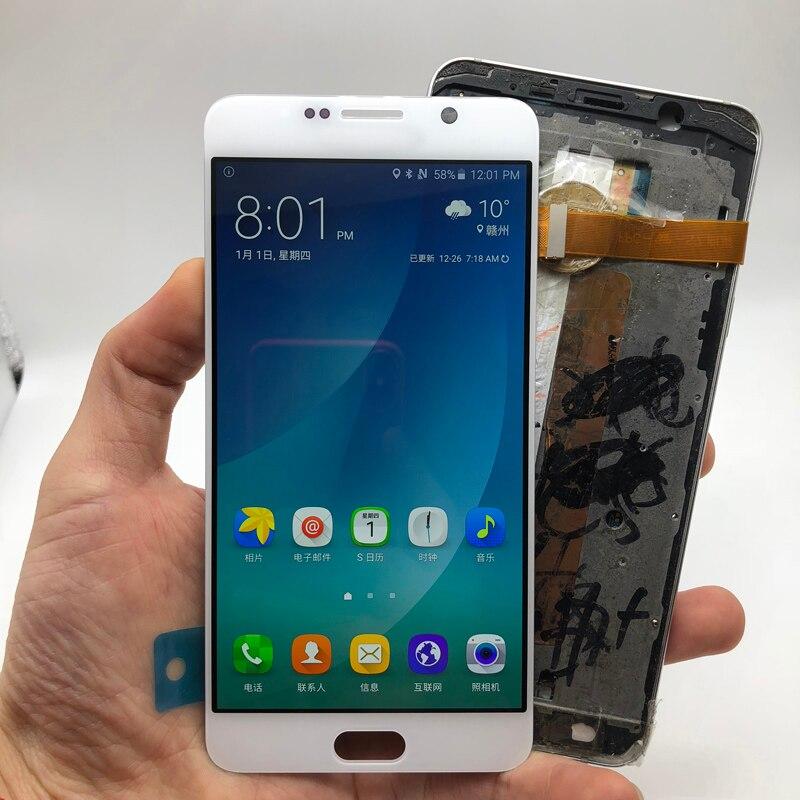 Новый 5,7 ''SUPER AMOLED Дисплей для SAMSUNG Galaxy Note 5 N9200 N920F N920A N920T N920C N920V ЖК дисплей Экран касания