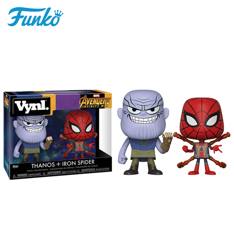 Official Original FUNKO POP Marvel Six Arm Spider Man &Miba! Action Figure Doll Collection Model Toys For Friend Origina Box funko pop marvel loki 36 bobble head wacky wobbler pvc action figure collection toy doll 12cm fkg120