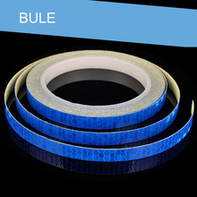 1CM*8M Fluorescent  Bike Bicycle Cycling Motorcycle Reflective Stickers Strip Decal Tape Safety Waterproof speedwow 46m 1cm car reflective tape sticker auto motorcycle bike luminous strip whole body decoration safety warning stickers