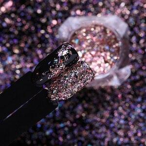 Image 4 - LEMOOC 1 Scatola Holo Nail Flakies Paillettes Rosa Polvere Doro Paillette FAI DA TE Unghie Artistiche Decorazione