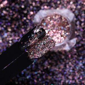 Image 4 - Lemooc 1 ボックスホロディスプレイ爪 flakies ネイルスパンコールは金粉 paillette の diy のネイルアートの装飾