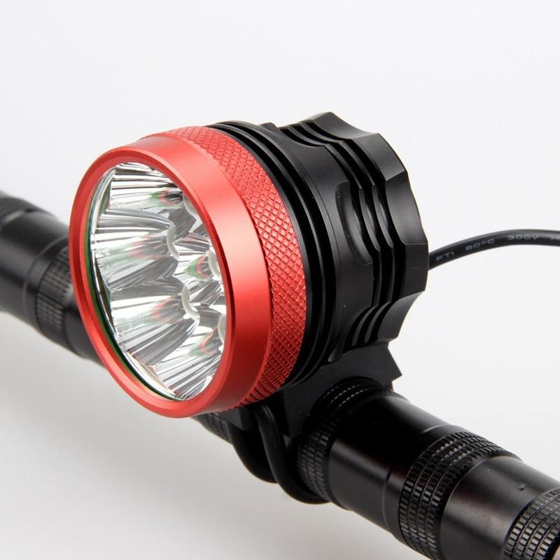 Ultra Light 9800 lumens Bicycle Light 8x CREE XM-L T6 LED Bike Headlight Night Ride Mountain Bike Lights Headlamp Bicycle Parts sl 8001 870lm 4 mode white hunting headlamp bicycle light w cree xm l t6 black silver 4x18650