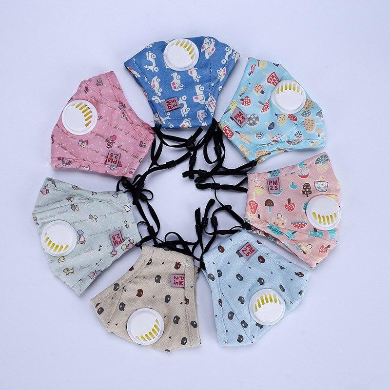 LNRRABC Warm Children Girls Health Care Cute Print Mouth-muffle Kawaii Cotton Anti-Dust Winter Face Mask