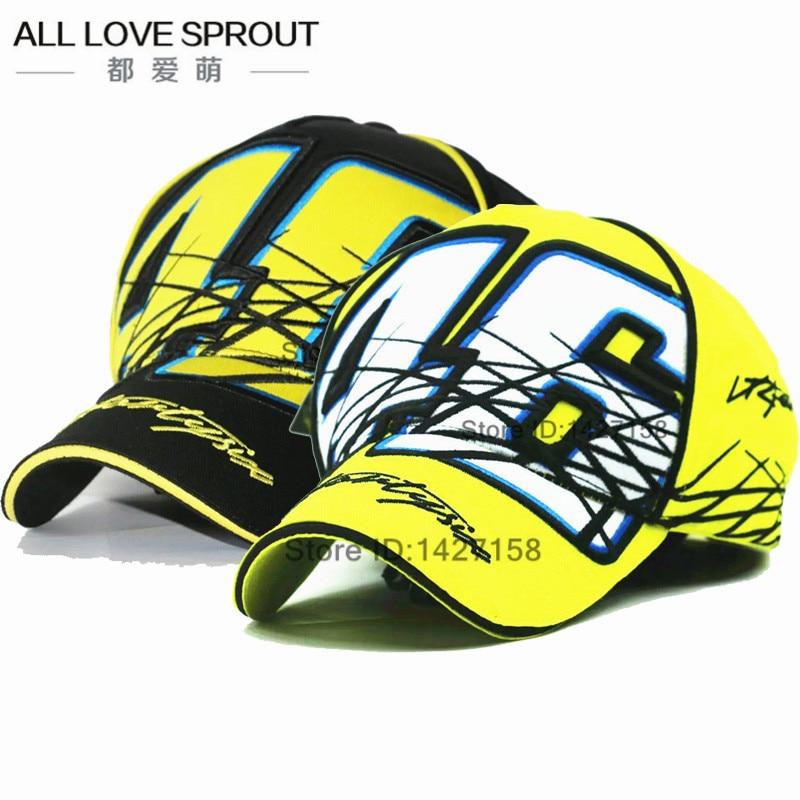 2017 Patchwork Motogp Cap VR46 Gorras Snapback Vrfortysix rossi 46 multi The doctor letter Embroidery Baseball Hat new bone