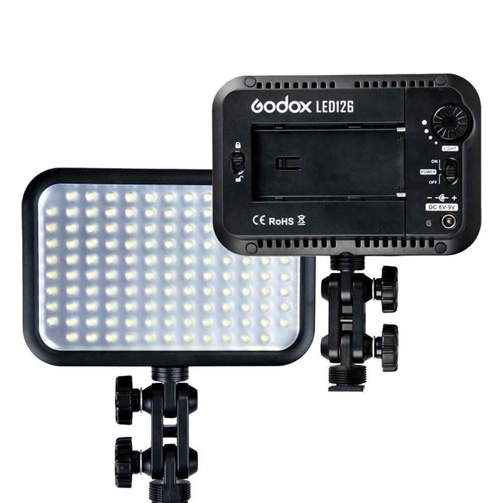 Godox LED 126 LED-126 Video Lamp Light for Digital Camera Camcorder DV Canon Nikon Sony Pentax Olympus Panasonic