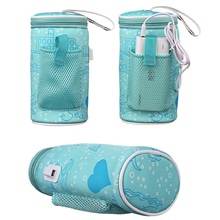 USB Milk Warmer Insulated Bag Portable Travel Cup Baby Nursing Bottle Cover Heater Infant Feeding Bags