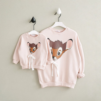 Christmas Family Matching Clothes Mother Daughter Outfits Cotton Casual Cartoon T-shirt Family Look Mom Baby Clothing CC414 Family Matching Outfits