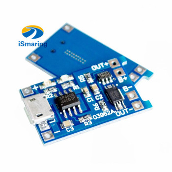 Official iSmaring 5V Micro USB 1A 18650 Lithium Battery Charging Board With Protection Charger Module image