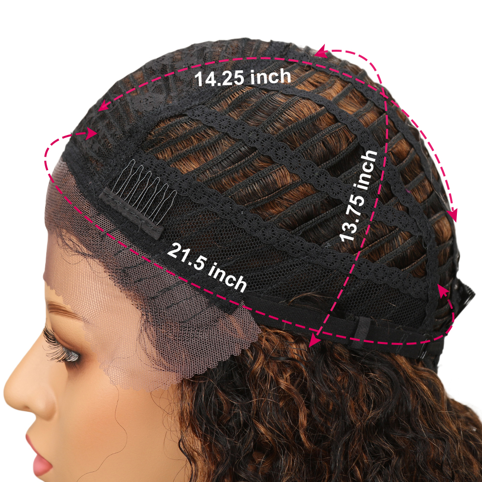 HTB1PMfTaLfsK1RjSszgq6yXzpXaK Sleek Lace Front Human Hair Wigs For Black Women Brazilian Ombre Curly human hair Wig Wet and wavy Wig Curly Lace Front wig