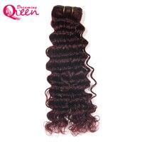 Bug # 99J Brasileño Weve Profunda 100% Bundles Cabello Humano No Remy Human Hair Extension Weave Soñando de Pelo de la Reina Libre gratis
