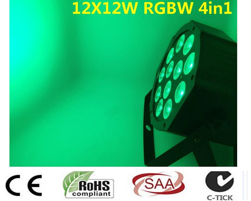 8 pz/lotto LED Par 12x12 W RGBW 4IN1 LED di Lusso 8 Canali DMX Led Flat Par dj dmx luci цена