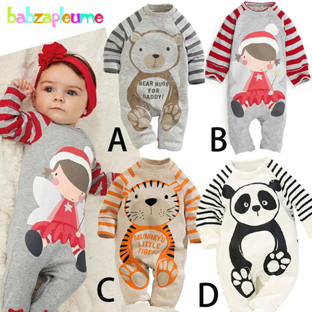 7edafc12789f 0-18M Spring Autumn Infant Clothing Girls Boys Rompers Baby Costumes  Cartoon Cotton Long Sleeve Jumpsuits Newborn Clothes BC1344
