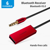 Hagibis Bluetooth приемник Bluetooth 5,0 адаптер AUX аудио 3,5 мм Jack bluetooth-стереонаушники приемник для автомобиля динамик наушников