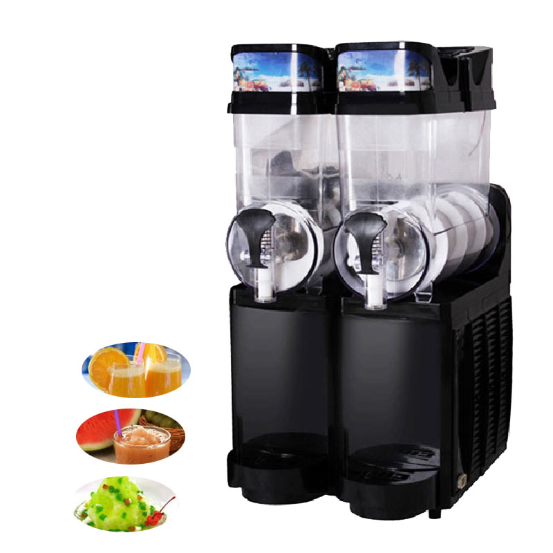 Jamielin 2 Tanks Sand Ice Slushy Making Slush Machines Electric Snow Melting Machine Ice Cream Smoothie Granita Machine