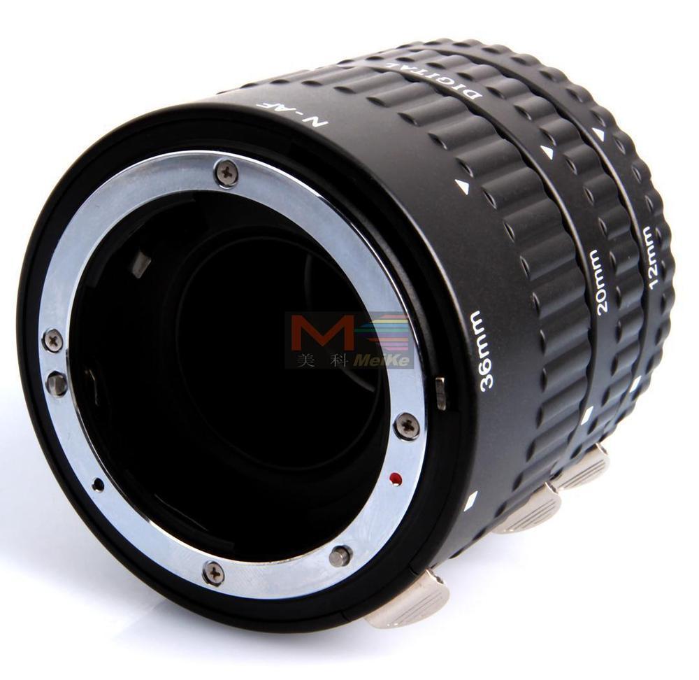 Meike Auto Focus Tube Extension Macro Set 12 20 36mm Adaptateur Anneau Pour Nikon D3100 D3200 D5000 Tous DSLR AF AF-S DX Camera Lens - 3