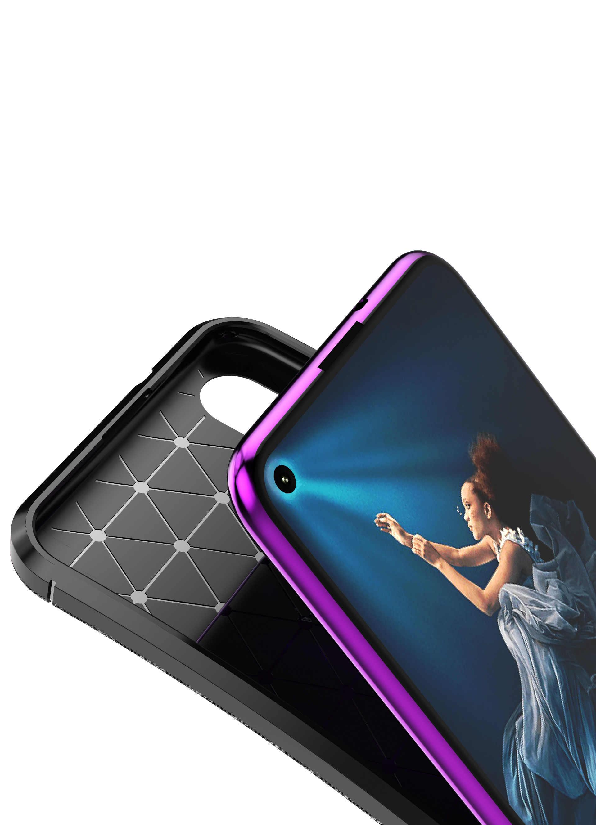 Чехол из углеродного волокна для телефона Honor 20, высококачественный дизайн Петля из алмазной сетки для huawei P20 Lite 2019 Nova 5 Honor 20 Pro Funda