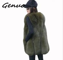 Genuo New fashion women 2019 Winter Warm Fashion Women Faux Fur Vest Outerwear Womens Faux Fox Fur Coat Female Plus size S-3XL genuo new 2019 winter fashion women s faux fur vest faux fur coat thicker warm fox fur vest colete feminino plus size s 3xl