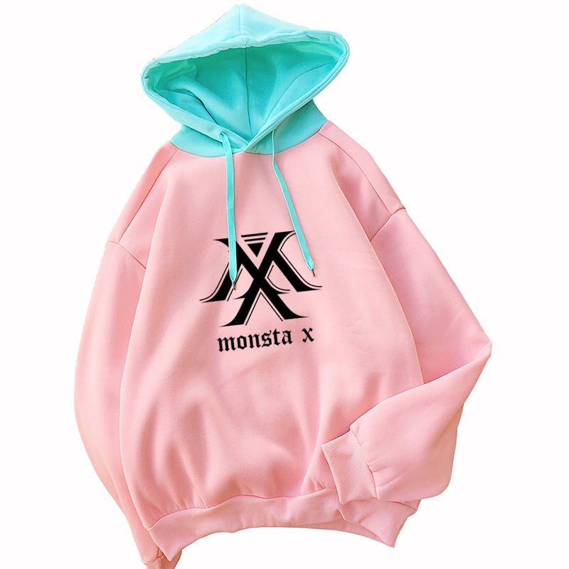 Hoodies & Sweatshirts Strong-Willed Harajuku Sweatshirt Hoodies Women Autumn 2018 Streetwear Color Block Kpop Hoodie Korean Style Woman Clothes Moletom Feminino