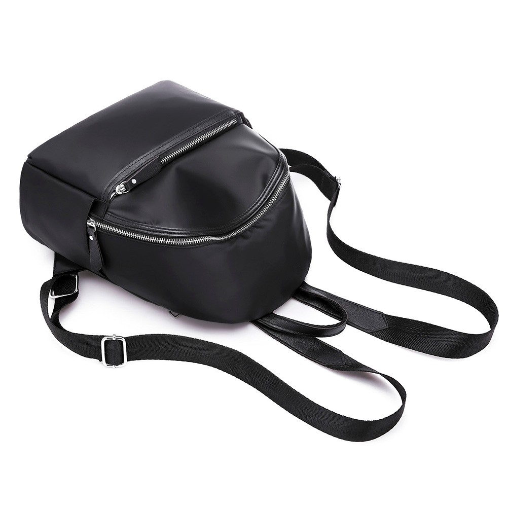 Women Backpack High Quality Nylon Leather Backpacks For Teenage Girls Female School Shoulder Circular Bag Mochila 18sep #6