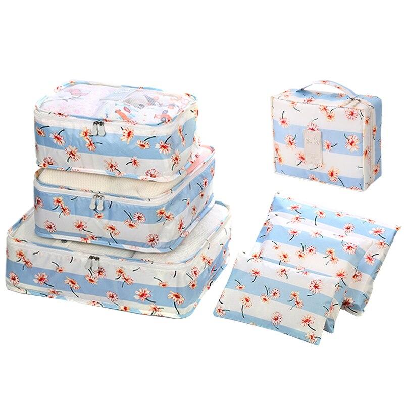 7pcs/set Waterproof Closet Underwear Shoes Wardrobe Large Size Luggage Pouch Travel Storage Bag Organizer For Clothes