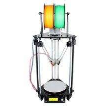 Geeetech Автоматическое Выравнивание 3D Принтер Двойной Экструдер Дельта Rostock Mini G2s Новый Модернизированный DIY Печать Комплектов LCD2004 Бесплатная