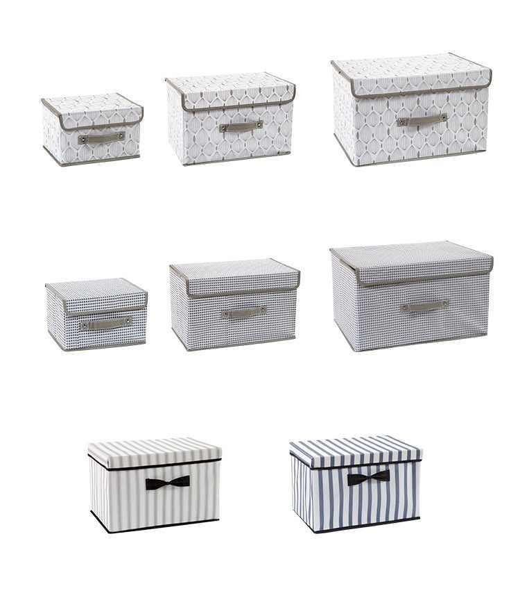 Nova dobrável Não-tecido caixa de armazenamento de material de Casa roupas Íntimas e meias crianças brinquedos caixas de armazenamento do organizador Cosméticos