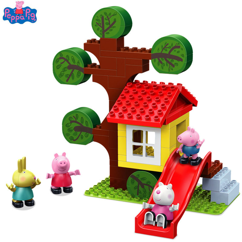 2019 Genuine Peppa Pig Action Figure Sceney Toy Tree House with Peppa Friends Rebecca suzy candy george Figure Toys for Children2019 Genuine Peppa Pig Action Figure Sceney Toy Tree House with Peppa Friends Rebecca suzy candy george Figure Toys for Children