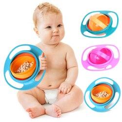 360 Girar Spill-Proof da Bacia Prato de Alimentação Do Bebê Bonito Do Bebê Caixas de Alimentos Alimentação Do Bebê Bacia Gyro Universal 360 Rotate spill-Proof Prato