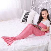Brand New Mermaid Tail Blanket Adult Throw Bed Wrap Super Soft Sleeping Bag Casual Handmade Crochet