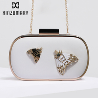 Chain Small Bag 2019 New Fashion Insect butterfly Clutch Female Temperament Evening Bags Women Crossbody Shoulder Bags Purse