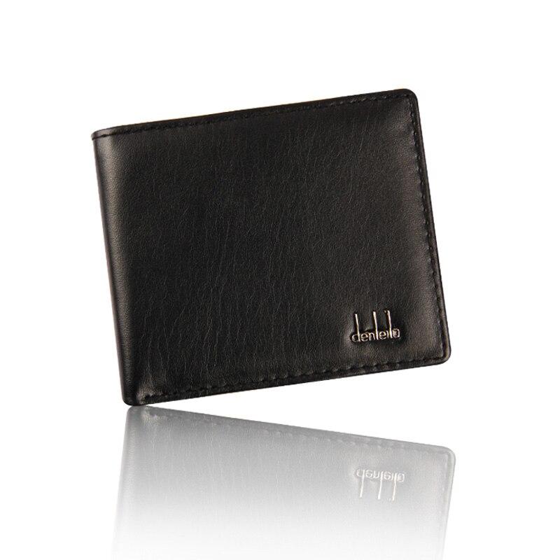Aufstrebend Männer Bifold Business Leder Brieftasche Kleine Id Kreditkarte Halter Geldbörse Taschen Luxus Brieftasche Kurze Eleganter Auftritt