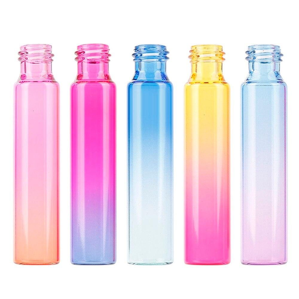10 мл градиентный цвет эфирное масло флакон духов ролик Толстый Стеклянный рулон прочный для путешествий косметический контейнер