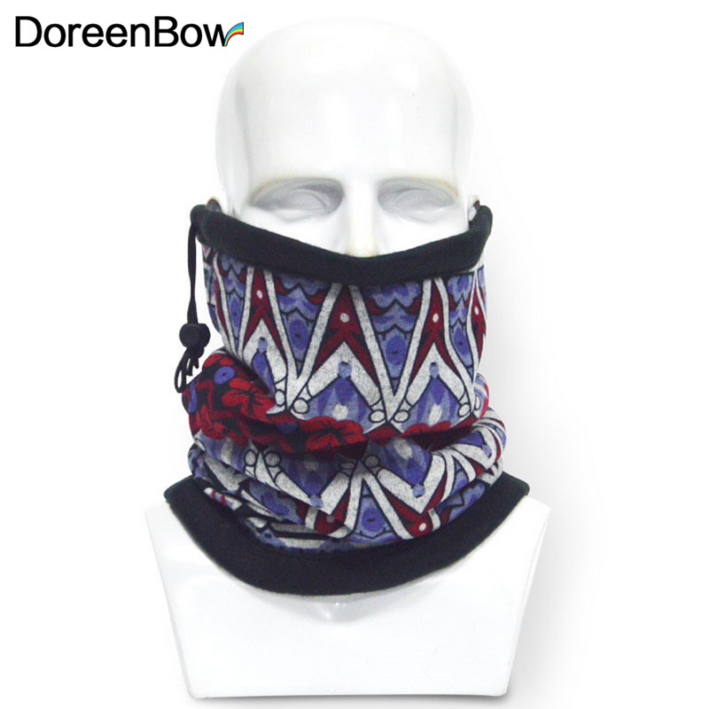 DoreenBow Men outdoor Sports Thermal Fleece Scarf Winter Autumn Neck Warmer Ring Scarf Bicycle Face Mask Multifunction