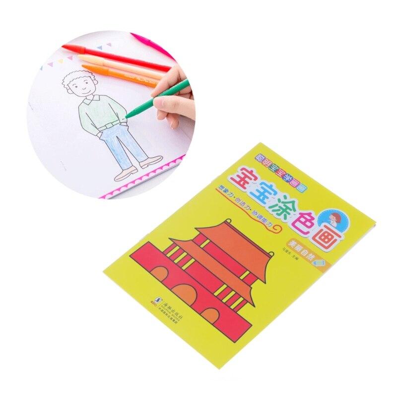 Cuaderno para colorear llenado de Color dibujo pintura caligrafía ...