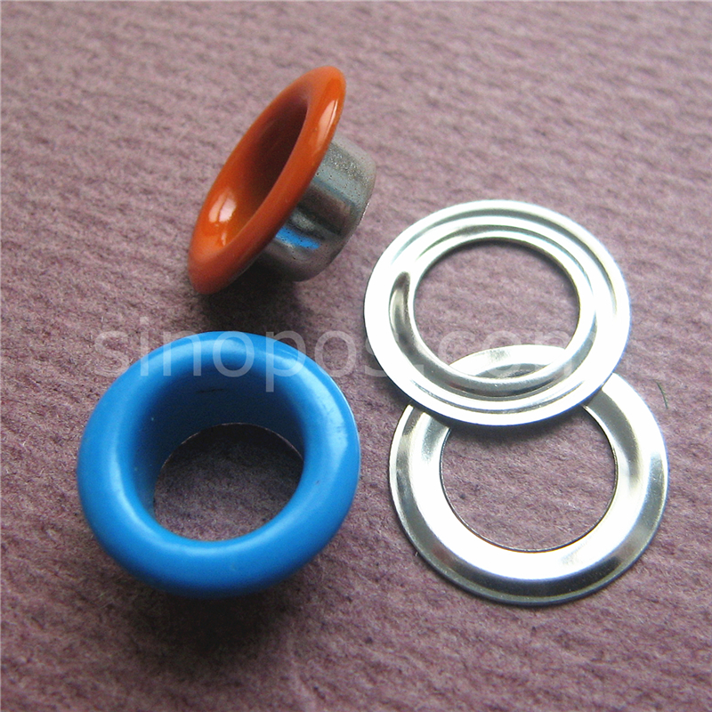 Colored Eyelets With Washers 3-10mm Grommet Rivet Hole Leather Card Scrapbooking