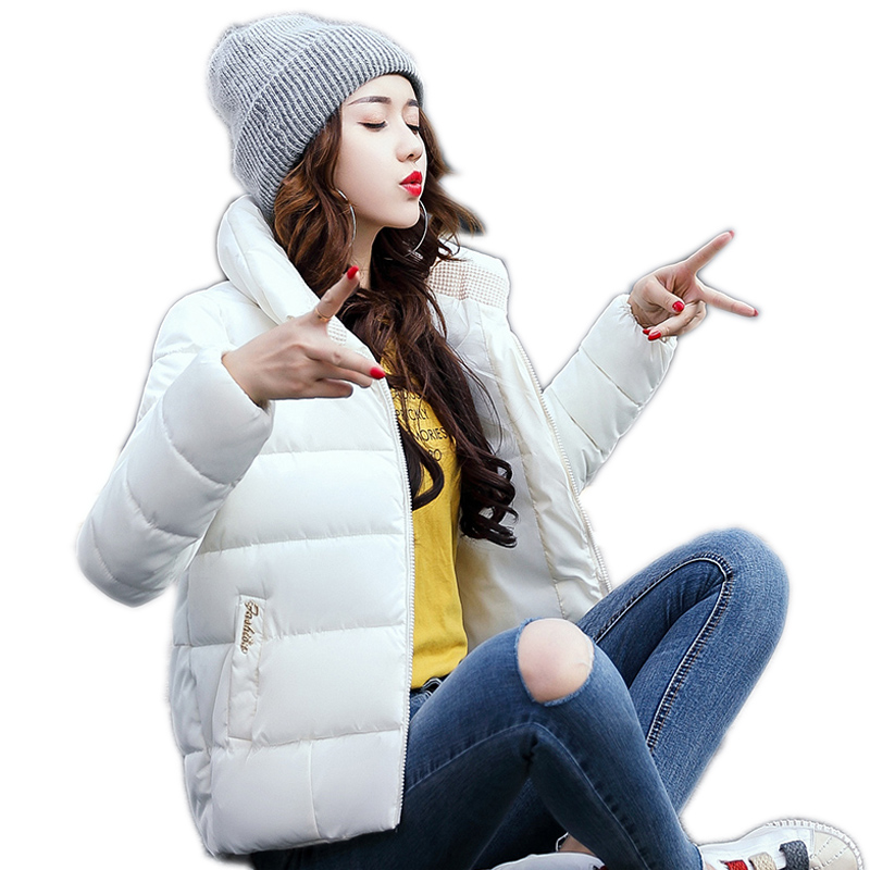 New Winter Down Jacket Female Casual Students Cotton Parkas Jackets For Women Short Coat Thicken Korean Parkas Women Winter 2017 hijklnl 2017 new winter female cotton jacket long thicken coat casual korean style women parkas overcoat hyt002