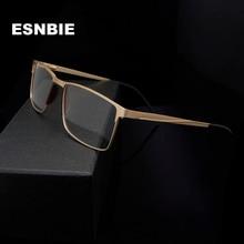 Стекло для глаз из титанового сплава, оптическое стекло es, оправа для мужчин, очки, ультра-светильник, полный обод, металлический глаз, стекло для женщин, квадратное стекло для близорукости