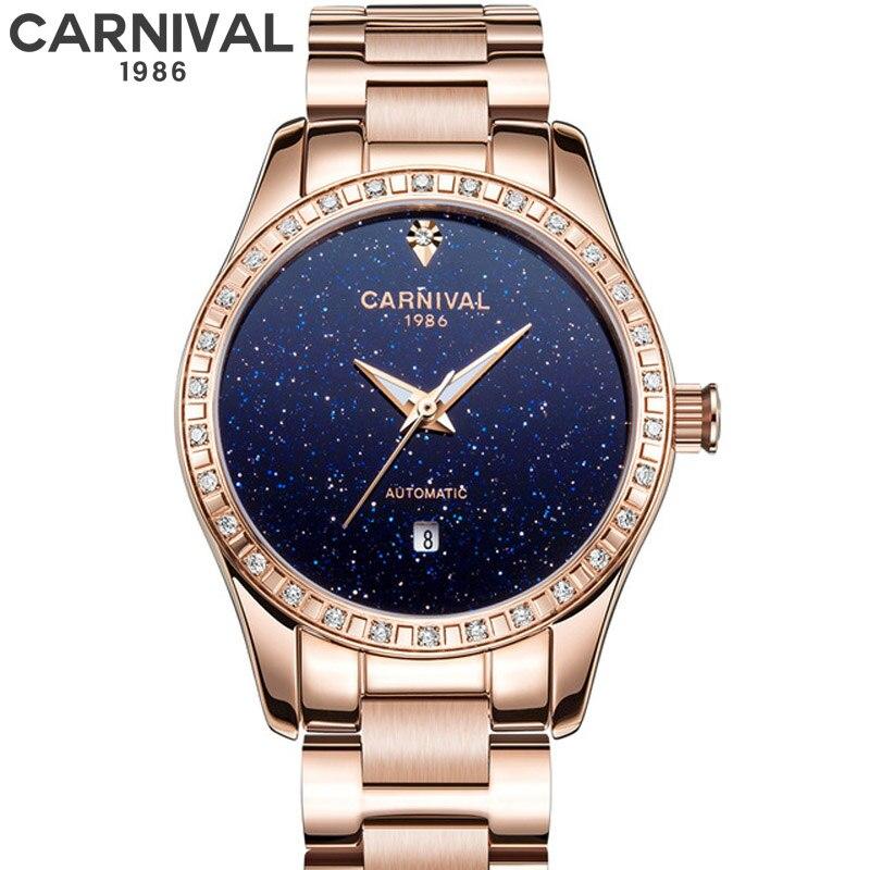 Ciel étoilé mode automatique mécanique or Rose montres 2019 nouvelle marque de luxe dames montre étanche femmes horloge féminine
