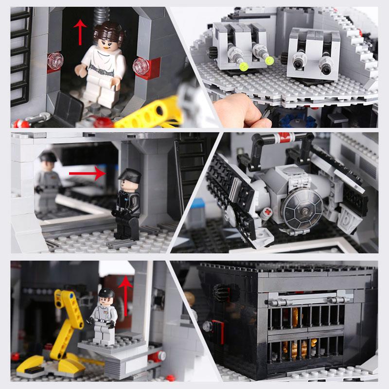 DHL 05035 Die Death Modell Star serie Bausteine Ziegel Kits Kompatibel mit die 10188 Kinder Pädagogisches DIY Spielzeug-in Sperren aus Spielzeug und Hobbys bei  Gruppe 2