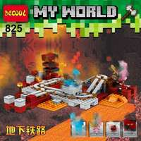 Decool für Minecraft steve 387 stücke U-bahn My world für minifigur für lepin Spielzeug Für Kinder Geschenk für lego 21130