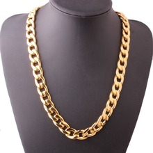 Fashion Stainless Steel Jewelry 7-40 11/13/15/19MM Men/Women Golden 1:1 NK Cuban Curb Link Chain Necklace Or Bracelet Xmas Gift