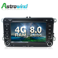 8 Core,4G RAM,32G ROM,Android 8.0 Car DVD Player GPS Navigation System Stereo For VW Amarok Caravelle EOS Magotan R36 Sagitar