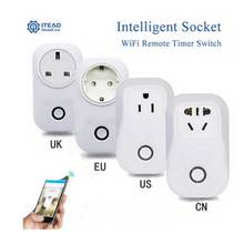 Itead Sonoff S20 wifi Wireless Remote Control Socket Smart Timer Plug Smart Home Power Socket EU US UK CN Standard Via App Phone