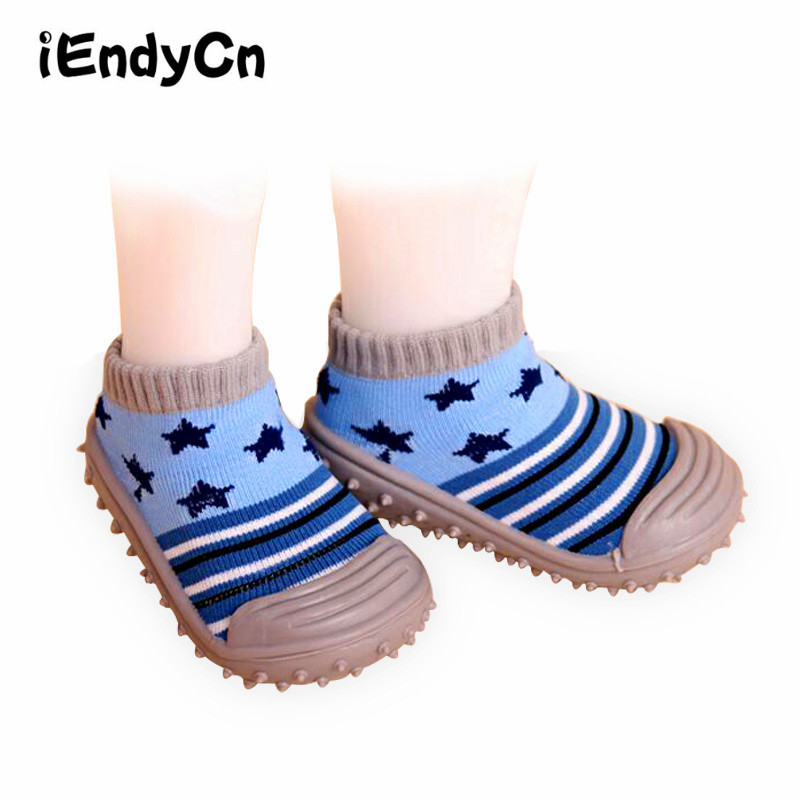 iEndyCn ילדים גרביים הנערה הקיץ הנערה נגד הזזה התינוק קריקטורה נעליים סוליות גומי מקורה גרביים הרצפה עם התינוק LMY2R