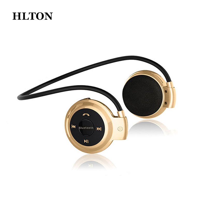 HLTON Mini Sport Bluetooth Wireless Headphone Music Stereo Earphone With Micro SD Card Slot Headset For Smartphone iphone ipad wireless bluetooth headset csr4 0 handfree earphone stereo mp3 music with mic for iphone android smartphone power display
