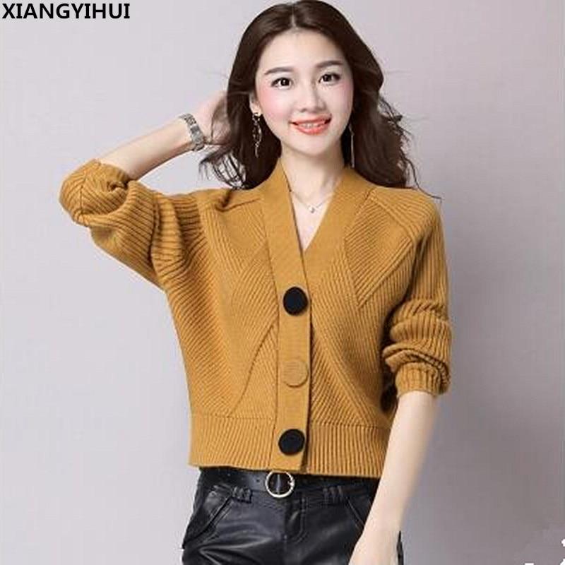 2018 Hohe Qualität Marke Herbst Winter Pullover Frauen Strickjacke Pullover Lose Einreiher Frauen Kaschmir Pullover 6 Farben
